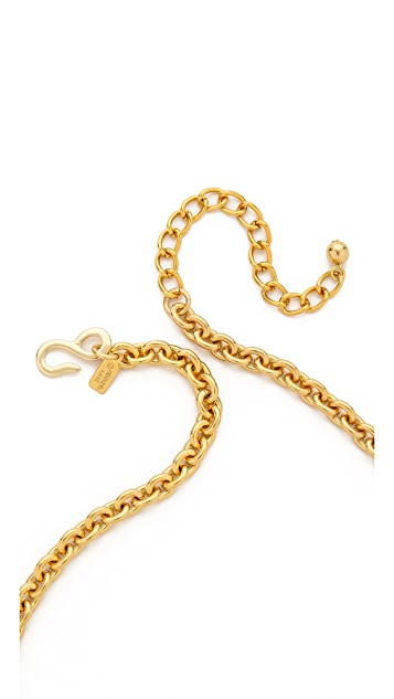 Kenneth Jay Lane Triple Gem Drop Necklace