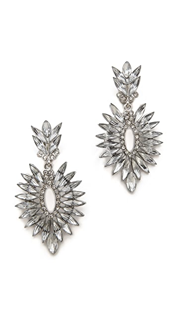Kenneth Jay Lane Clip On Crystal Earrings