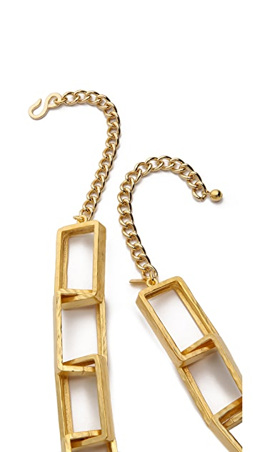 Kenneth Jay Lane Rectangle Link Necklace