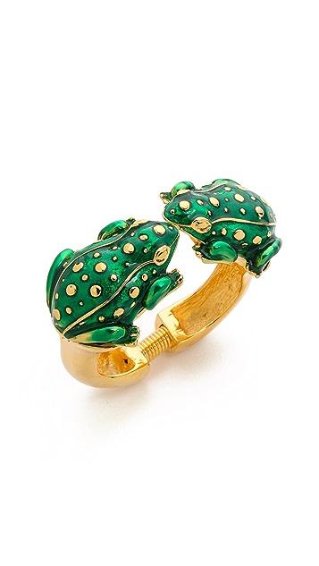 Kenneth Jay Lane Duel Frog Bracelet
