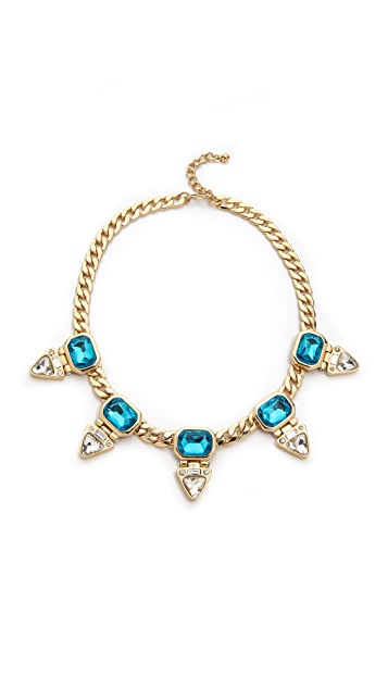 Kenneth Jay Lane Gem Station Necklace
