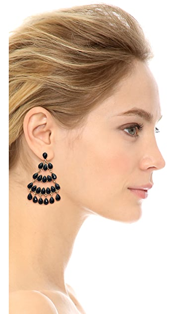 Kenneth Jay Lane Statement Chandelier Earrings