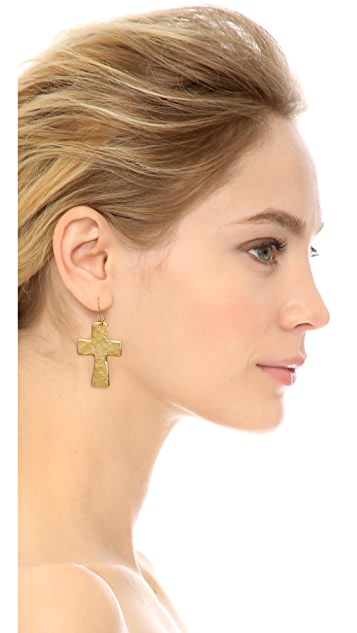 Kenneth Jay Lane Cross Earrings