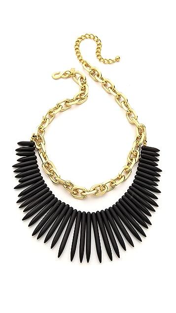 Kenneth Jay Lane Stone Fringe Chain Necklace