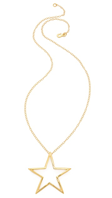 Kenneth Jay Lane Star Pendant Necklace