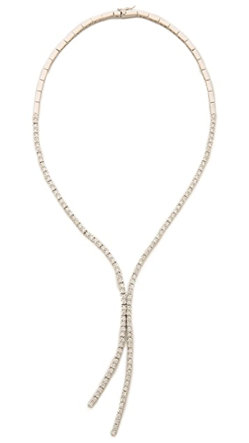 Kenneth Jay Lane Round CZ Lariat Necklace