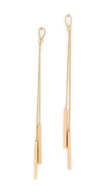 Kenneth Jay Lane Dangling Bar Earrings