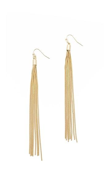 Kenneth Jay Lane Snake Chain Tassel Earrings