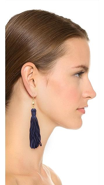 Kenneth Jay Lane Bead & Tassel Earrings