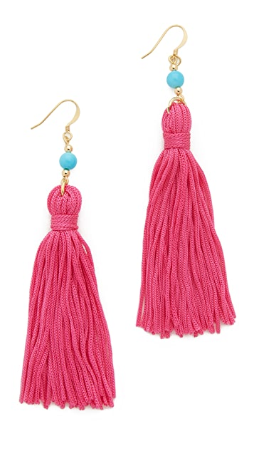 Kenneth Jay Lane Bead & Tassel Earrings