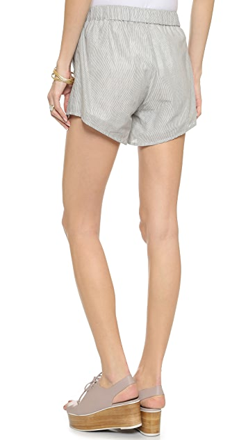 Knot Sisters Stroll Striped Shorts