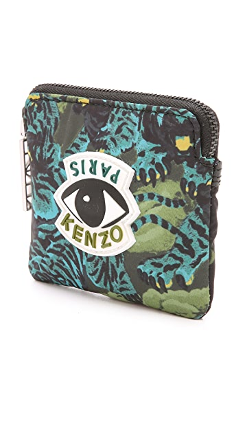 KENZO Essentials Flying Tiger Zipped Cardholder