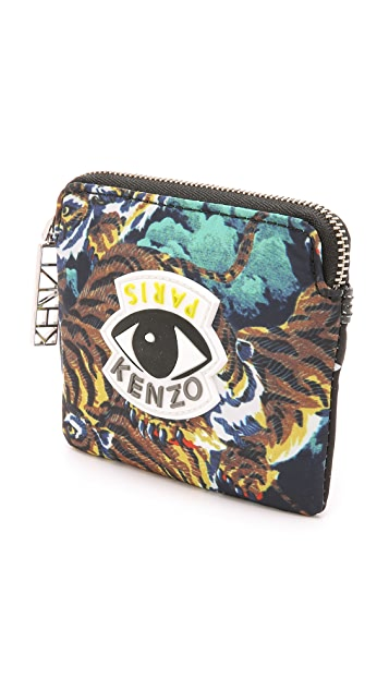 KENZO Essentials Multi Logo Zipped Cardholder
