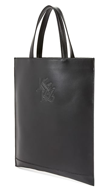 KENZO Paris New York Leather Tote
