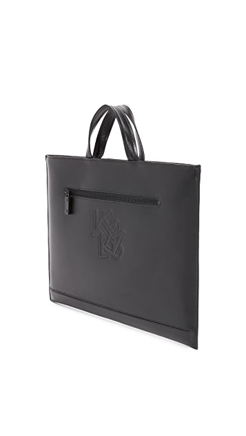 KENZO Paris New York Leather Briefcase