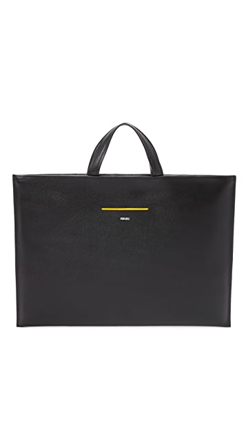 KENZO Paris New York Leather Briefcase