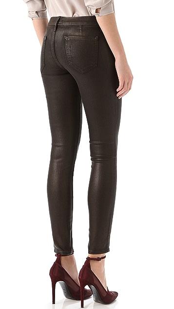 KORAL Simple Dark Coated Jeans