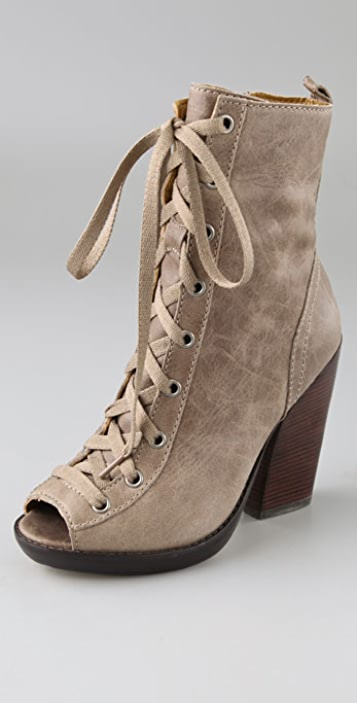 KORS Michael Kors Angie Open Toe Booties