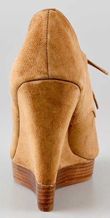 KORS Michael Kors Cassidy Kiltie Wedge Booties