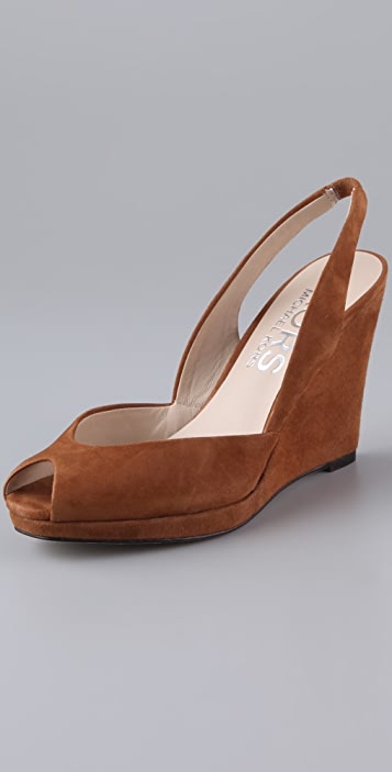 KORS Michael Kors Vivian Suede Wedge Sandals