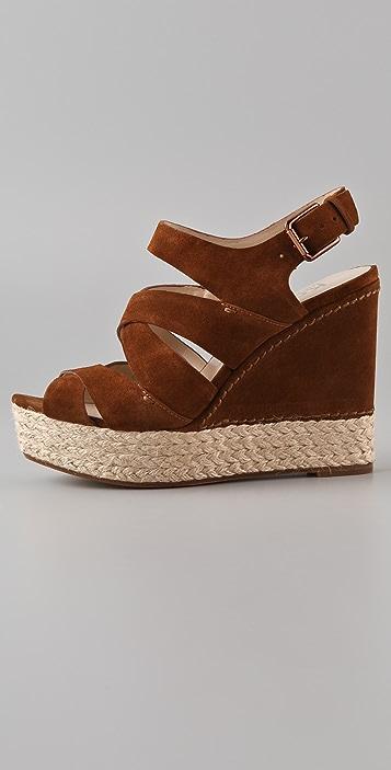 KORS Michael Kors Cynthia Suede Wedge Sandals