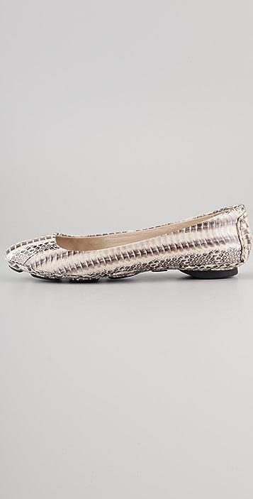 KORS Michael Kors Odette Snake Ballet Flats