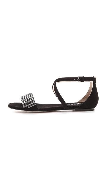 KORS Michael Kors Adia Jeweled Flat Sandals