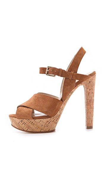 KORS Michael Kors Adair Cork Sandals