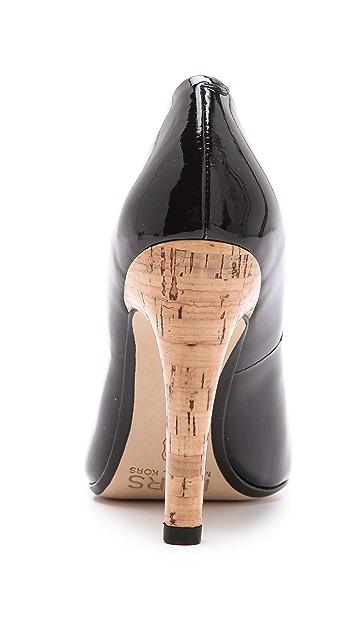 KORS Michael Kors Glitter Cork Heel Pumps
