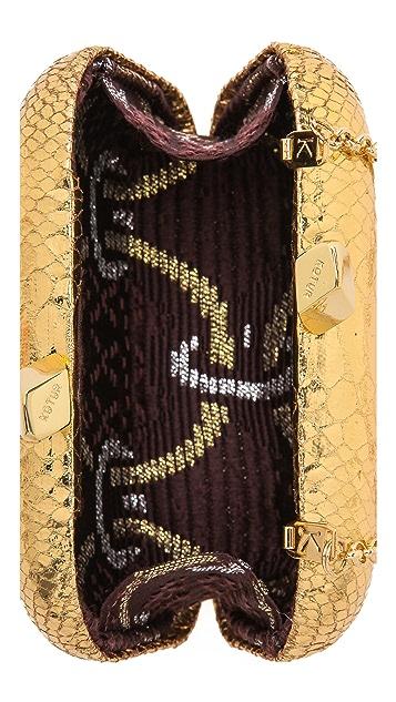 Kotur Margo Embossed Snake Clutch