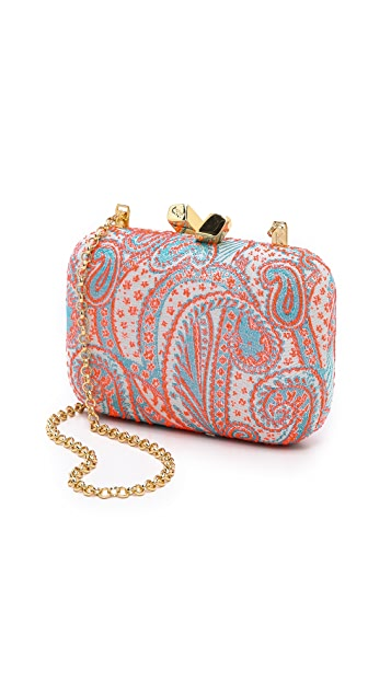Kotur Jacquard Margo Clutch with Drop In Chain