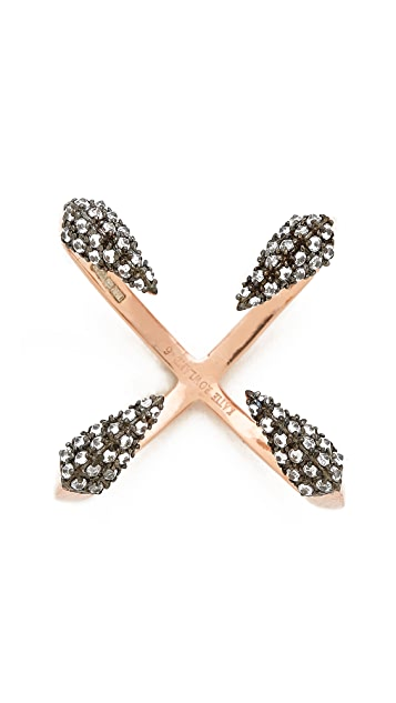 Katie Rowland Studded Cross Ring