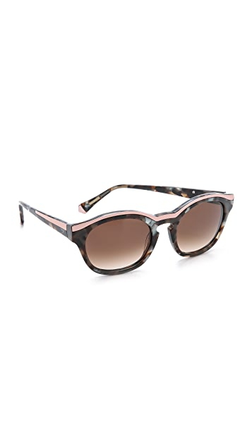 c729240373c Kate Young for Tura Top Metal Sunglasses