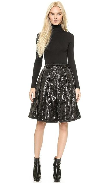 KTZ Sequin Pleated Skirt