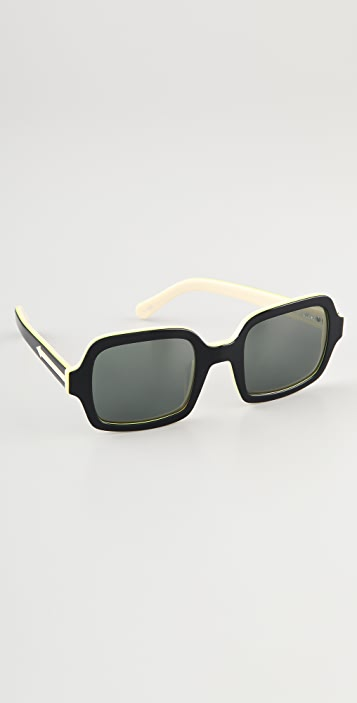 Karen Walker Cabbie Sunglasses