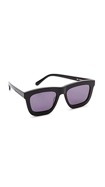 Karen Walker Deep Worship Sunglasses - Black/Grey Smoke Mono