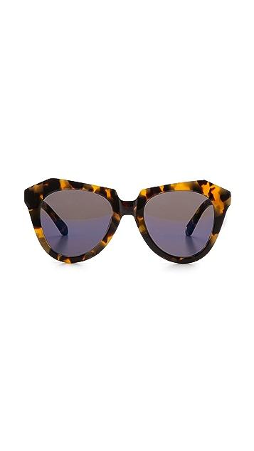 Karen Walker Superstars Collection Number One Mirrored Sunglasses