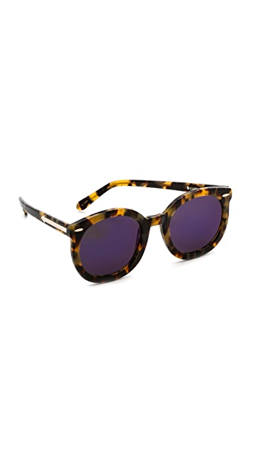 044184e2bb45 Karen Walker. Superstars Collection Super Duper Strength Mirrored Sunglasses