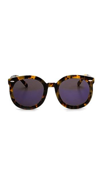 cc8fcf35ccf ... Karen Walker Superstars Collection Super Duper Strength Mirrored  Sunglasses ...