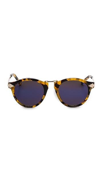 Karen Walker Superstars Collection Helter Skelter Mirrored Sunglasses