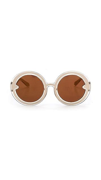 Karen Walker Orbit Filagree Mirrored Sunglasses