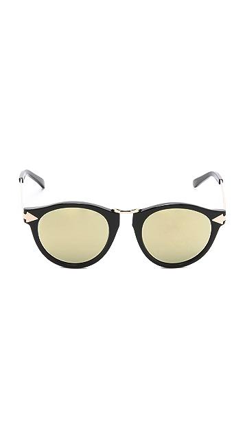 Karen Walker Superstars Helter Skelter Sunglasses