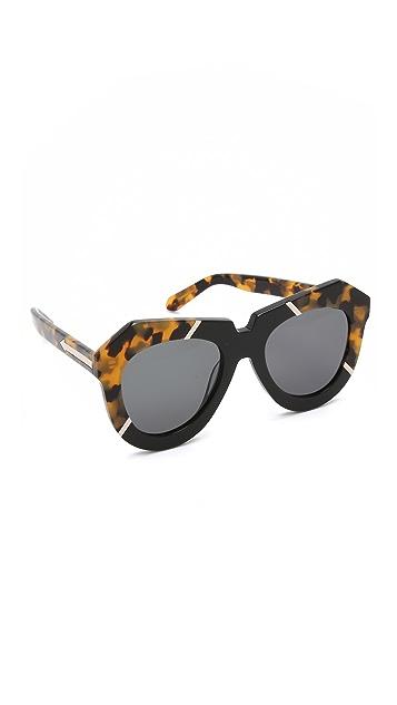 5c50ce446fc Karen Walker One Splash Sunglasses