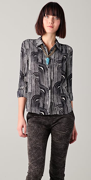 Kelly Wearstler Tucana Print Blouse