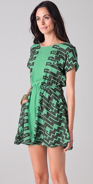 Kelly Wearstler Numa Print Dress with Back Cutout
