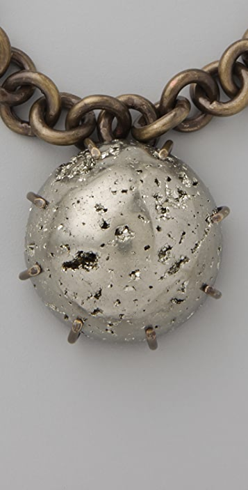 Kelly Wearstler Chain Necklace with Pyrite Sphere