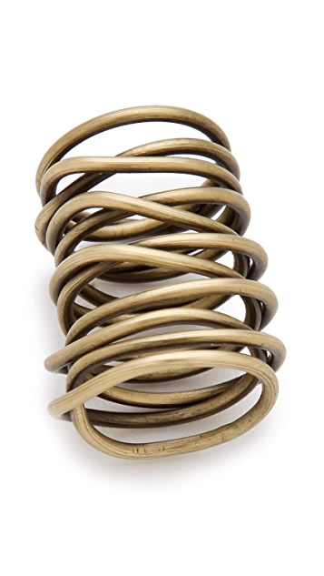 Kelly Wearstler Twisted Brass Ring