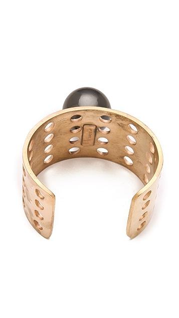 Kelly Wearstler Perforated Bracelet with Sphere