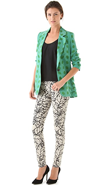 Kelly Wearstler Gem Cube Print Blazer