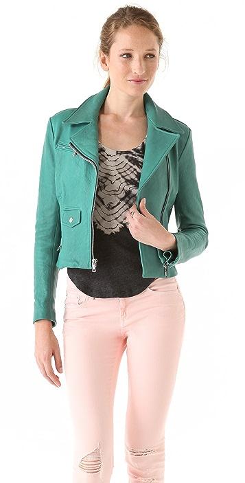 Kelly Wearstler Leather Moto Jacket